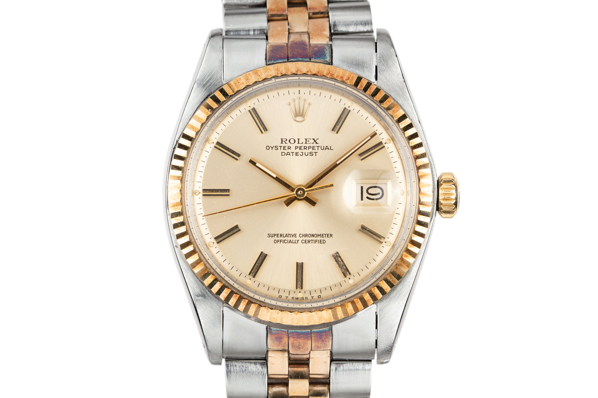 1971 Rolex Two-Tone DateJust with Gold Sigma Dial photo, #0