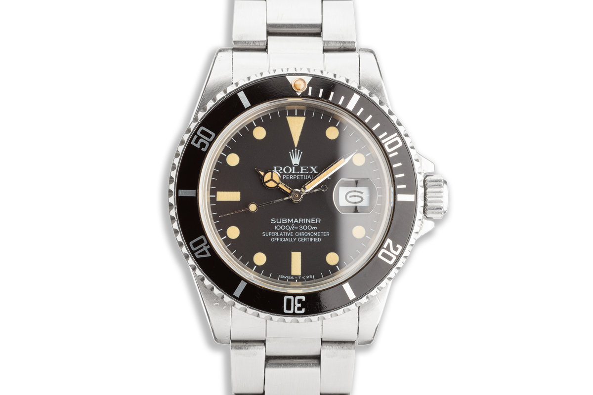 1983 Vintage Rolex Submariner 16800 Matte Dial with Box & Papers photo, #0