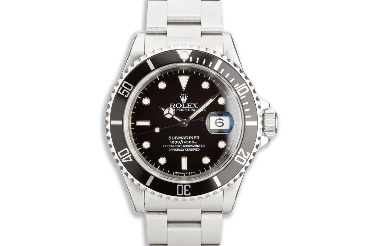 1993 Rolex Submariner 16610 with Box & Papers photo, #0