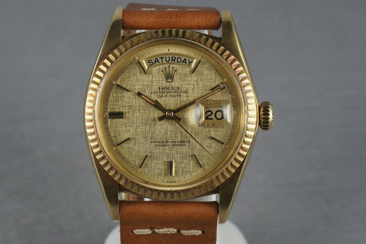 Rolex Vintage 18K YG President 1803 with Linen Dial photo