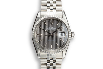 1984 Rolex DateJust 16030 with Grey Tapestry Dial photo