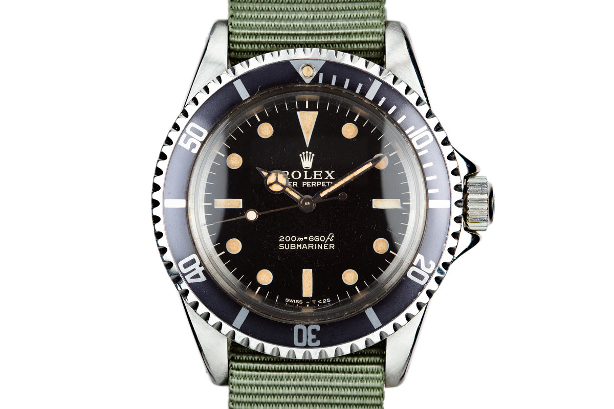 1964 Rolex Submariner 5513 with Meters first Gilt Dial photo, #0