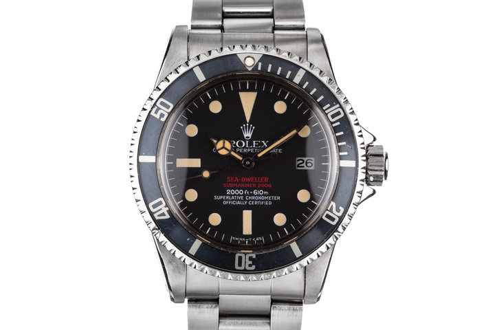 1977 Rolex Double Red Sea-Dweller 1665 with Service Papers photo