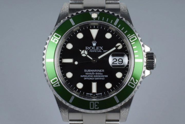 2004 Rolex Green Submariner 16610V with Box and Papers (FULL SET) photo
