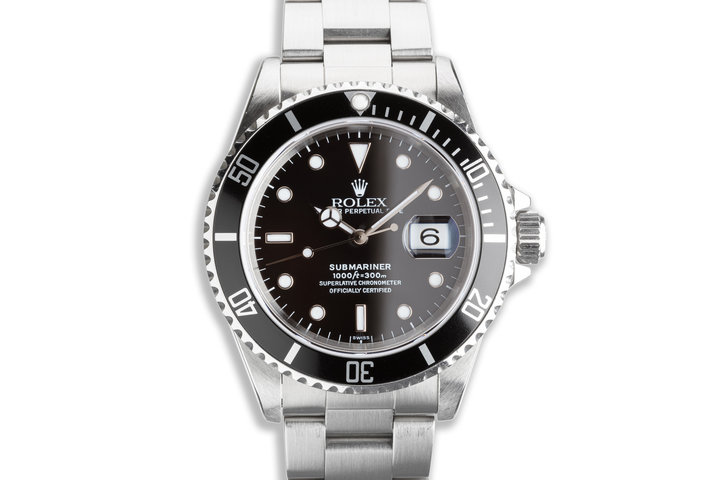 """1999 Rolex Submariner 16610 with Box & Papers """"Swiss Only"""" Dial Box & Papers photo"""