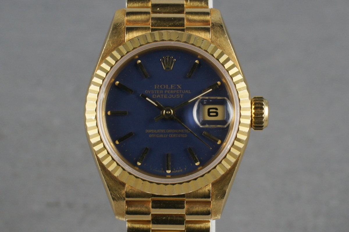 1995 Rolex Ladies DateJust President Ref: 69178 with Blue Dial photo, #0
