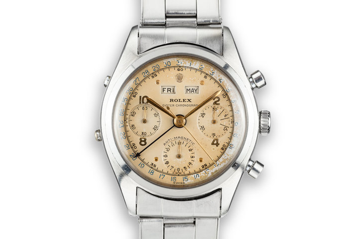 1952 Rolex Dato-Compax Jean-Claude Killy Chronograph 6036 Cream Dial with Service Papers photo