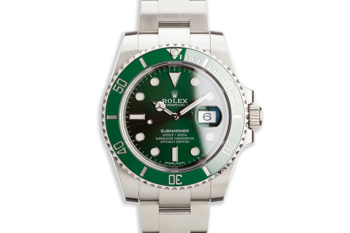 "2018 Rolex Green Submariner 116610LV ""Hulk"" with Box and Card photo, #0"