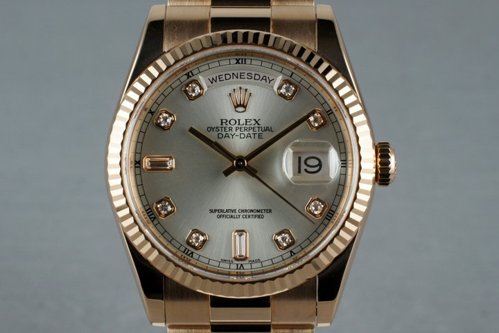 2000 Rolex 18K Rose Gold Day-Date 118235 with Diamond Dial photo