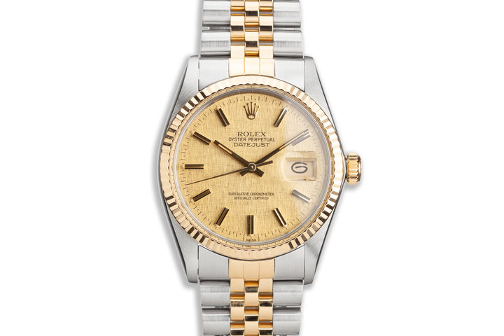 1984 Rolex Two-Tone DateJust 16013 Champagne Linen Dial photo