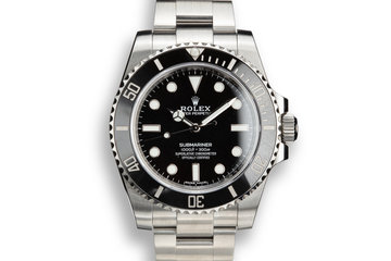 2017 Rolex Submariner 114060 with Box and Papers photo