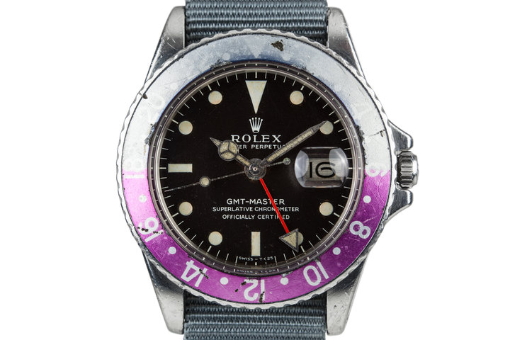 1968 Rolex GMT-Master 1675 With Fuchsia Bezel photo