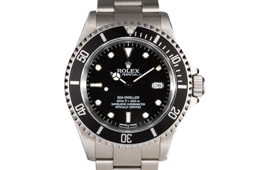 1999 Rolex Sea Dweller 16600 with Box and Papers photo