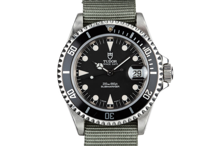 1995 Tudor Submariner Prince Date 79190 Black Dial photo