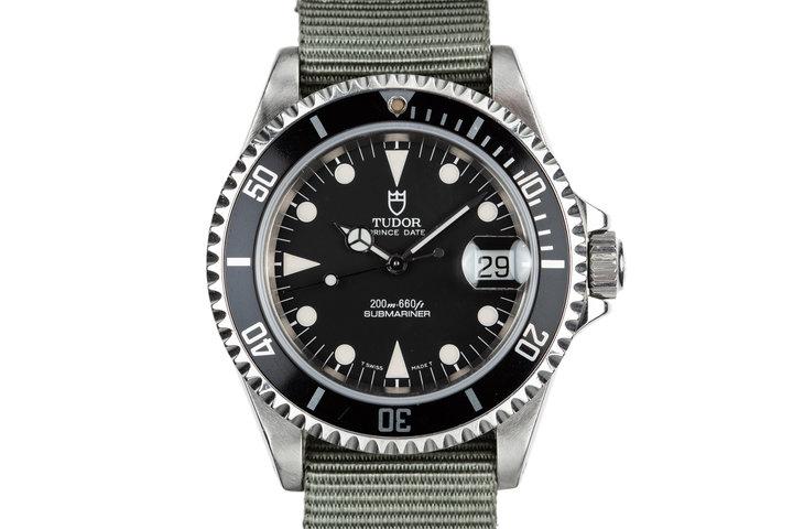 1995 Tudor Submariner Prince Date 79190 Black Dial photo