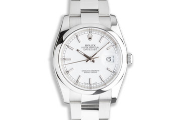 2015 Rolex DateJust 116200 White Dial with Box and Card photo