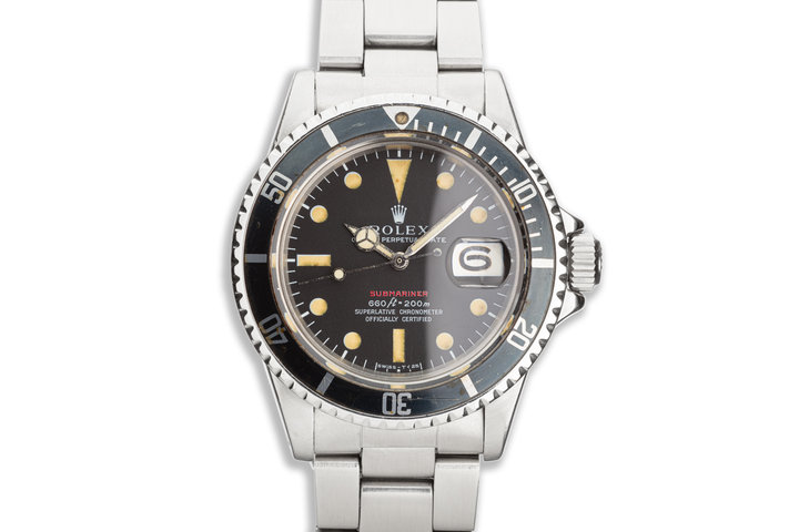 1969 Vintage Rolex Mk IV Red Submariner 1680 photo