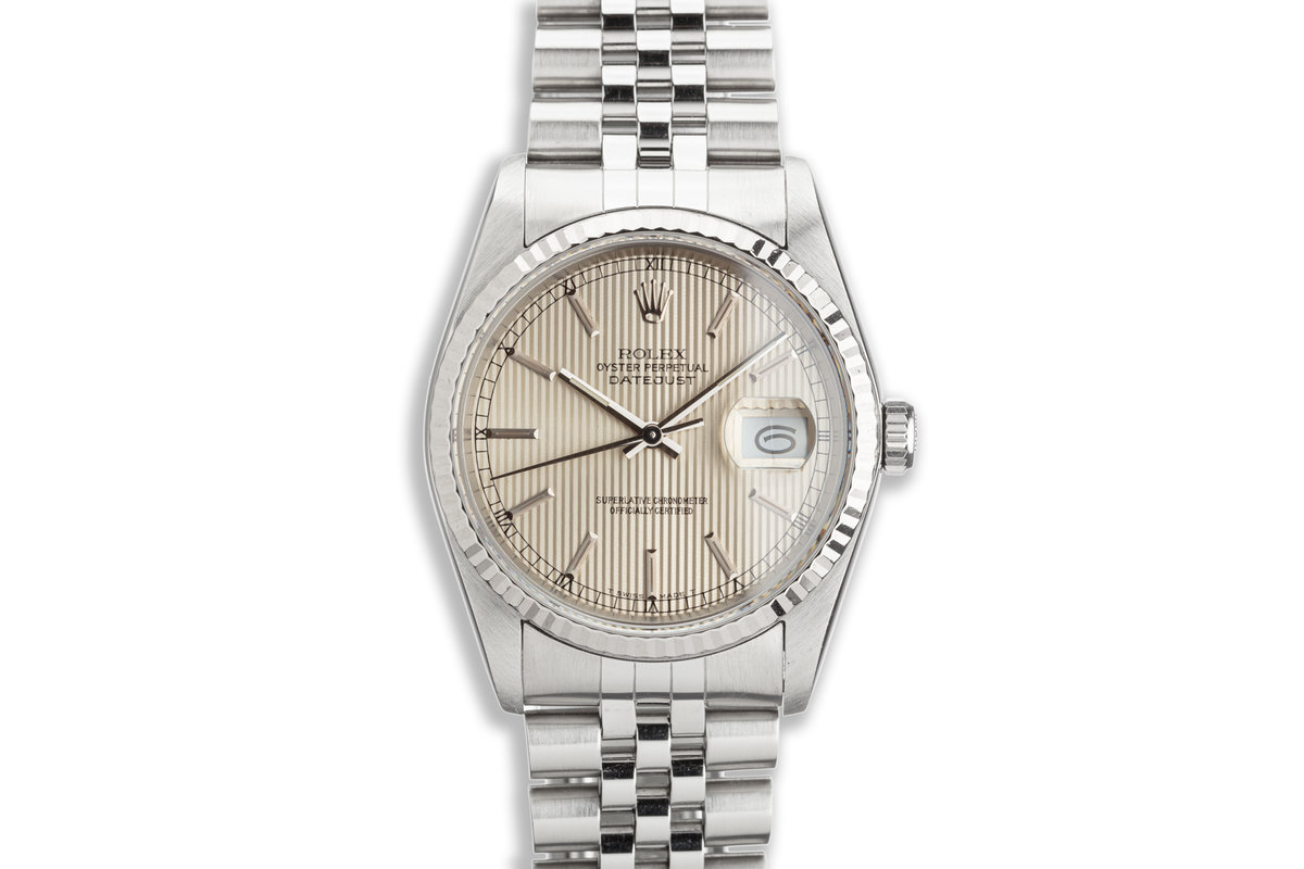 1988 Rolex DateJust 16234 Champagne Tapestry Dial photo, #0
