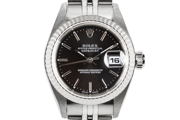 2000 Rolex Ladies DateJust 69174 with Black Dial photo