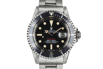 1972 Rolex Red Submariner 1680 with MK VI Dial with Box and Papers photo