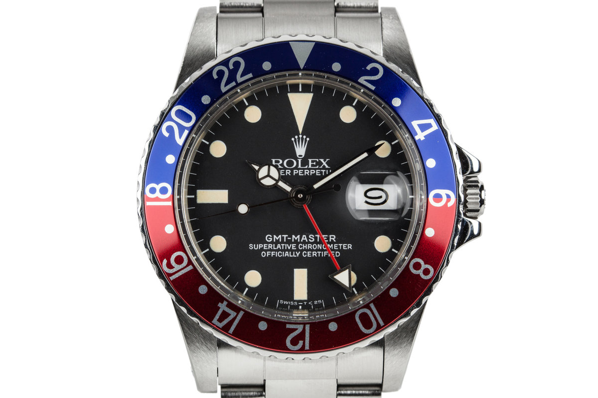 1983 Rolex GMT-Master 16750 Matte Dial with Rolex Service Papers photo, #0