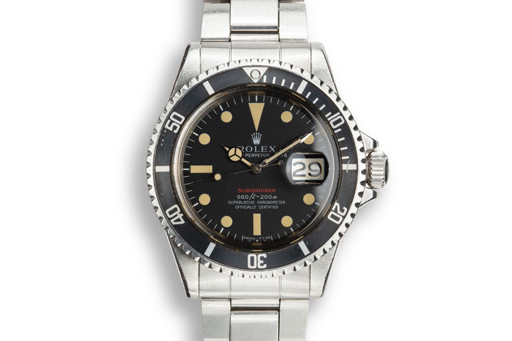 1970 Rolex Red Submariner 1680 MK IV with Box and Papers photo