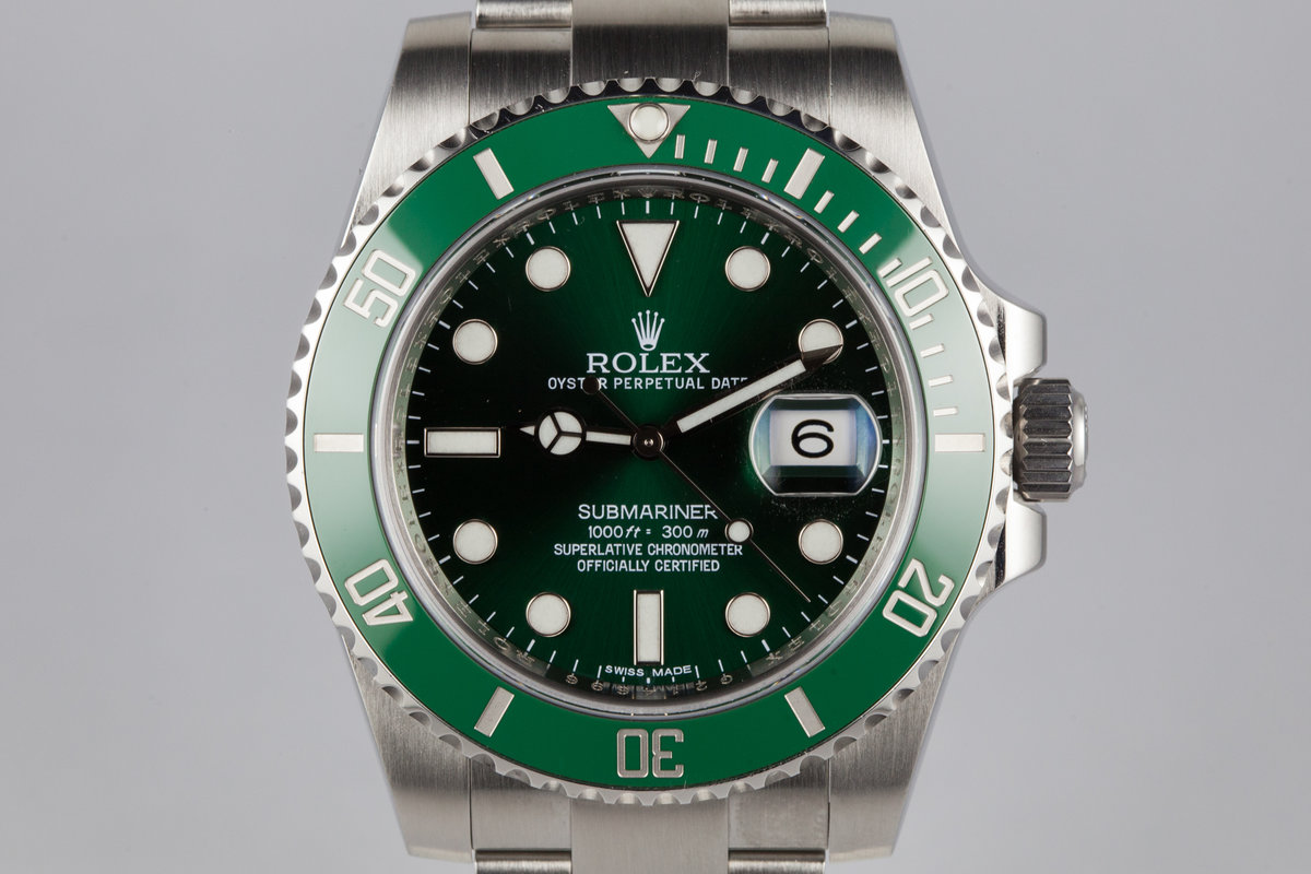 2011 Rolex Green Submariner 116610LV with Box and Papers photo, #0