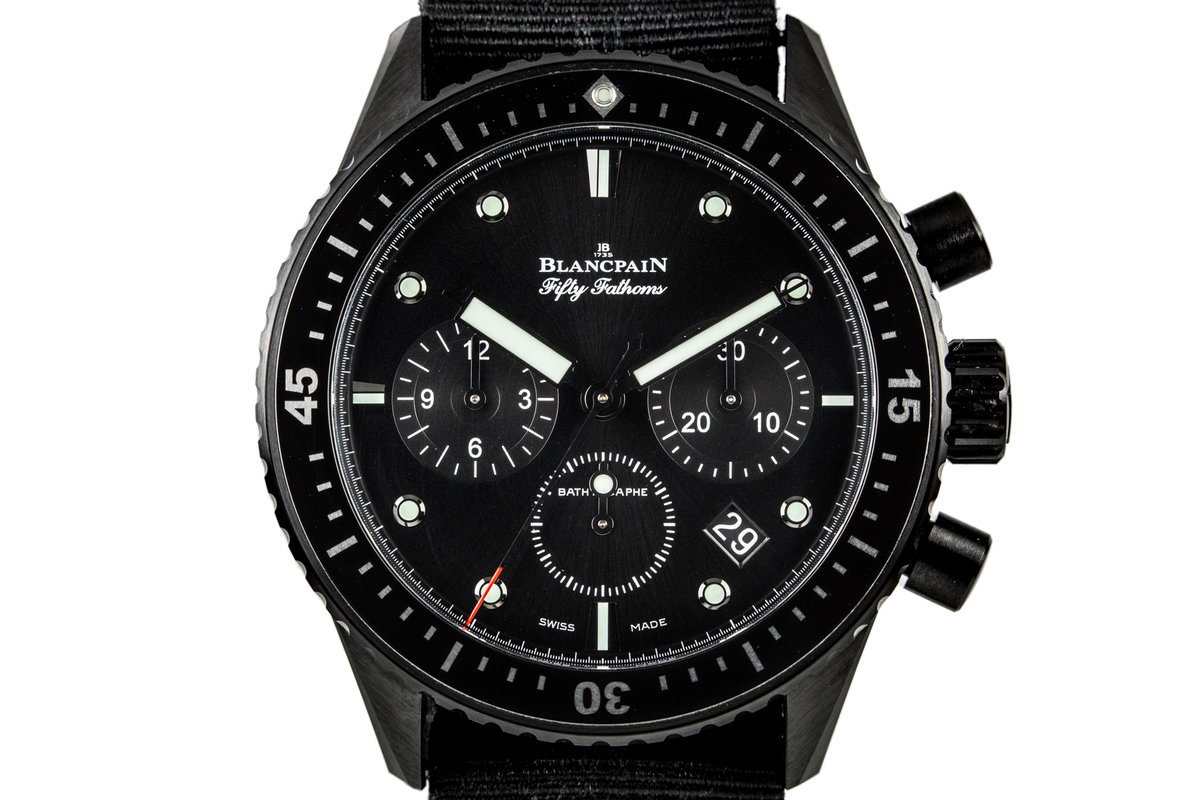 2015 Blancpain Fifty Fathoms Bathyscaphe Ceramic Flyback Chronograph J200130 with Box and Papers photo, #0