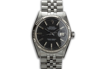 1973 Datejust 1601 Matte Black Dial photo