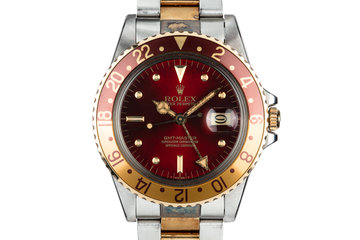 """1980 Rolex Two-Tone GMT-Master 16753 with """"Hawaiian Punch"""" Dial photo"""