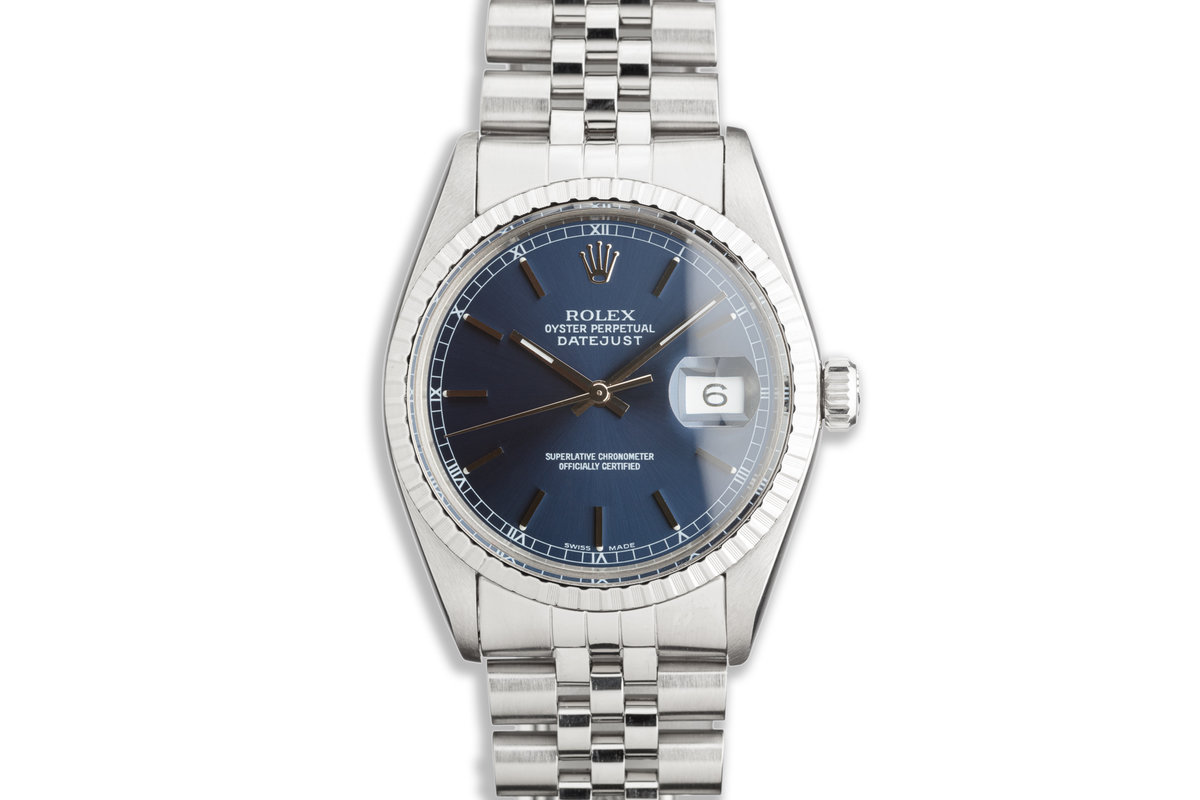 1979 Vintage Rolex DateJust 16030 with Blue Dial photo, #0