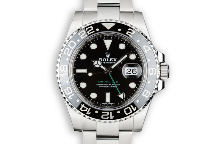 2018 Rolex GMT-Master II116710LN Black Bezel with Box and Papers photo