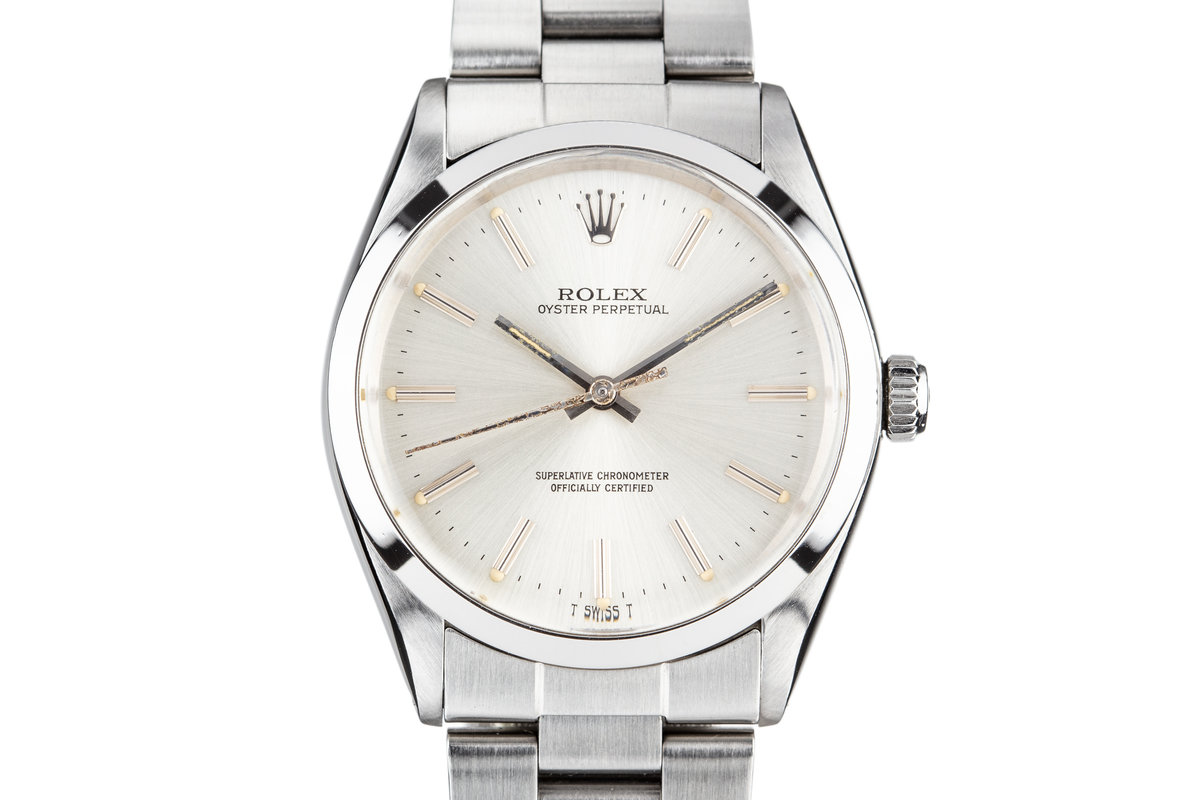 1983 Rolex Oyster Perpetual 1002 Silver Dial photo, #0