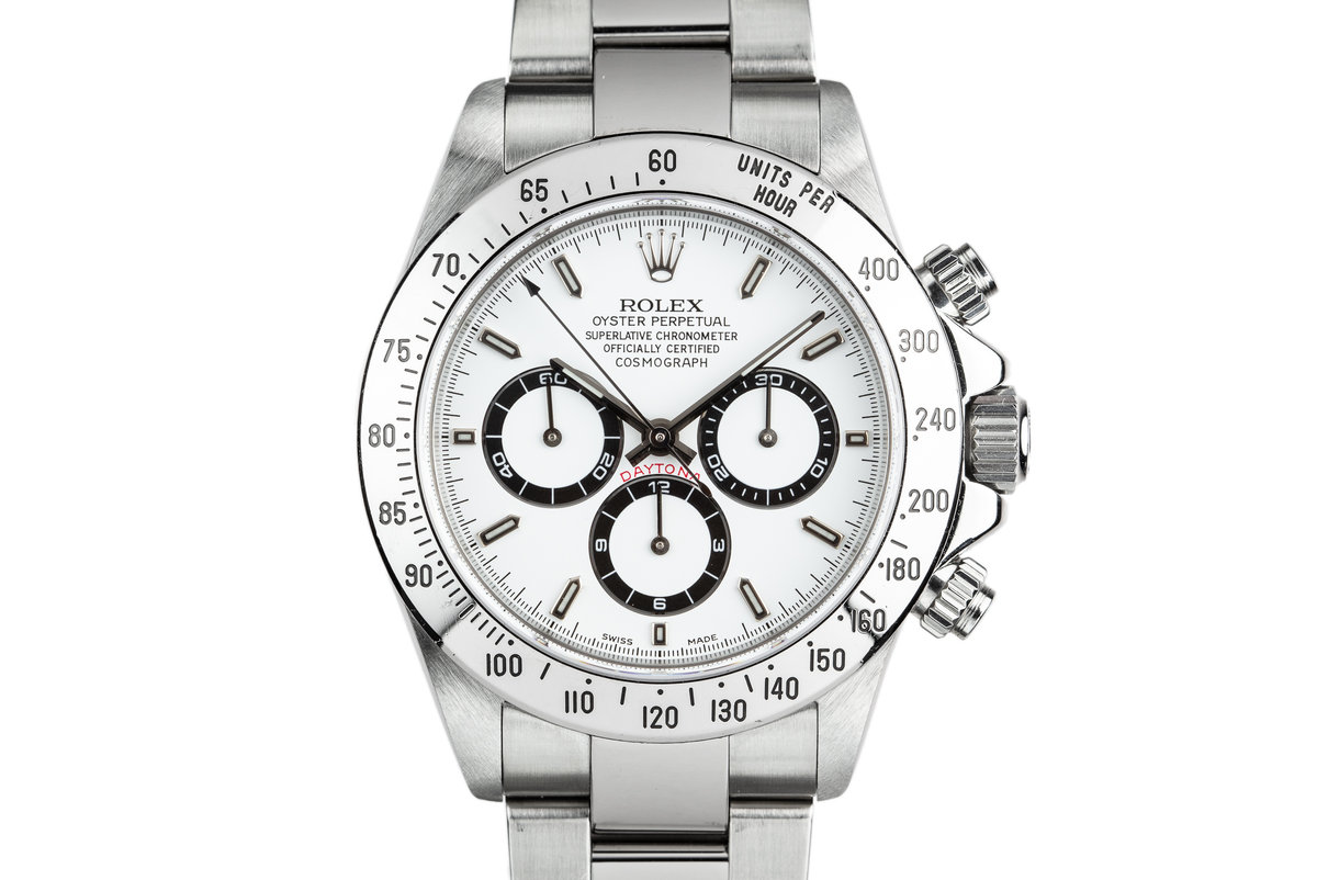 1999 Rolex Zenith Daytona 16520 White Dial with Box, Papers, and Service Papers photo, #0