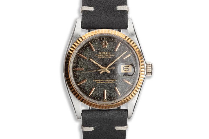 1968 Vintage Rolex 18k & Steel DateJust 1601 Tropical Gilt Dial photo