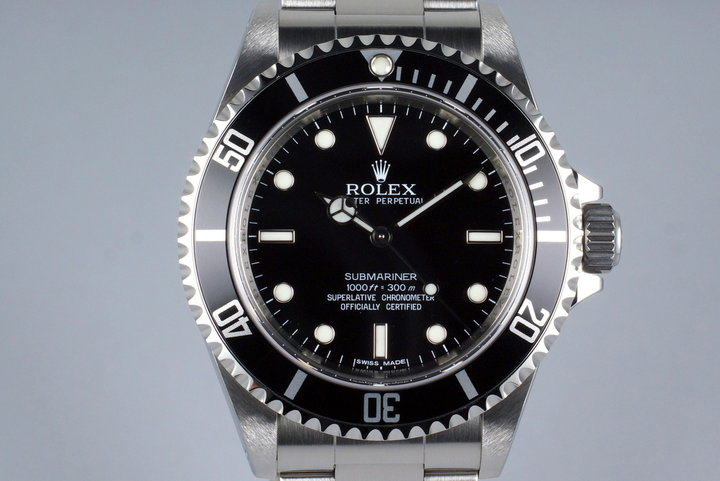 2009 Rolex Submariner 14060M 4 Line Dial with Box and Papers photo