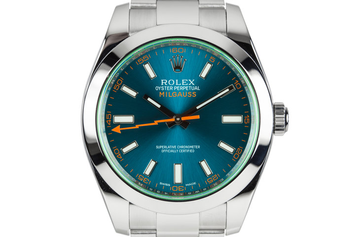 2016 Rolex Milgauss116400GV Blue Dial with Box and Papers photo