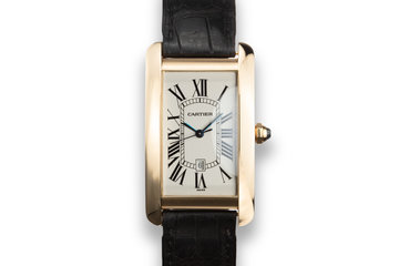 Cartier 18K YG Tank Americaine 1740 photo