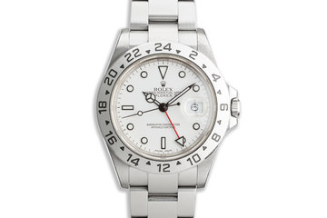 "2005 Rolex Explorer II 16570 ""Polar"" White Dial photo"