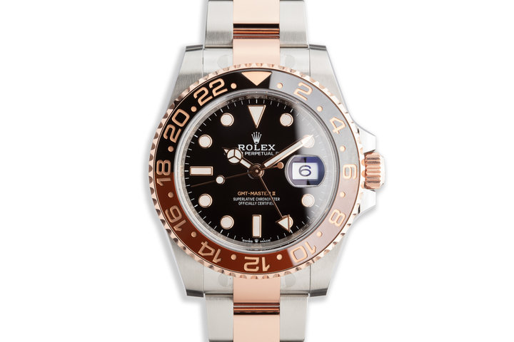 """2018 Rolex Ever Rose GMT-Master II 126711CHNR """"Root Beer"""" with Box and Card photo"""