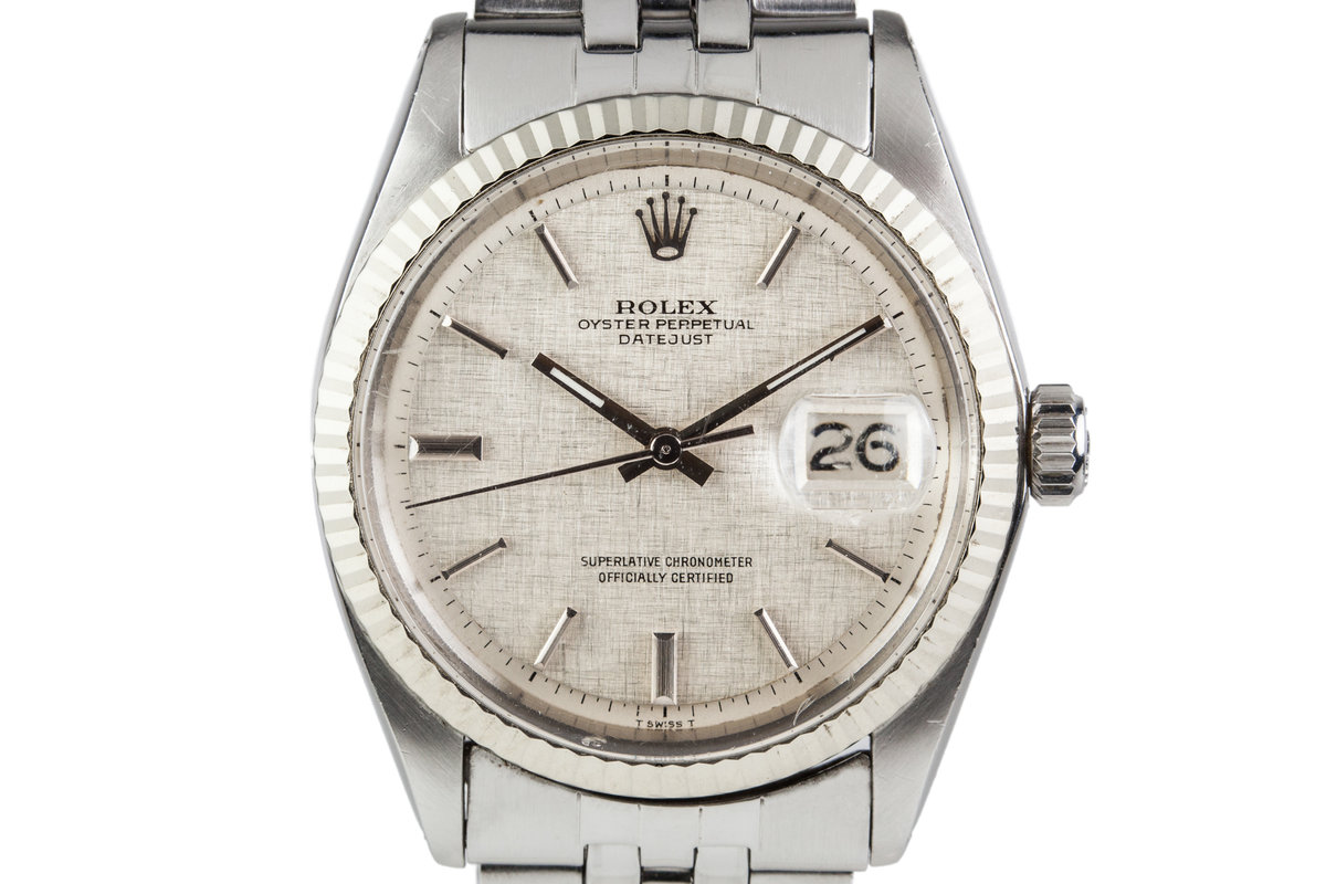 1972 Rolex Datejust 1601 No-Lume Linen Dial photo, #0