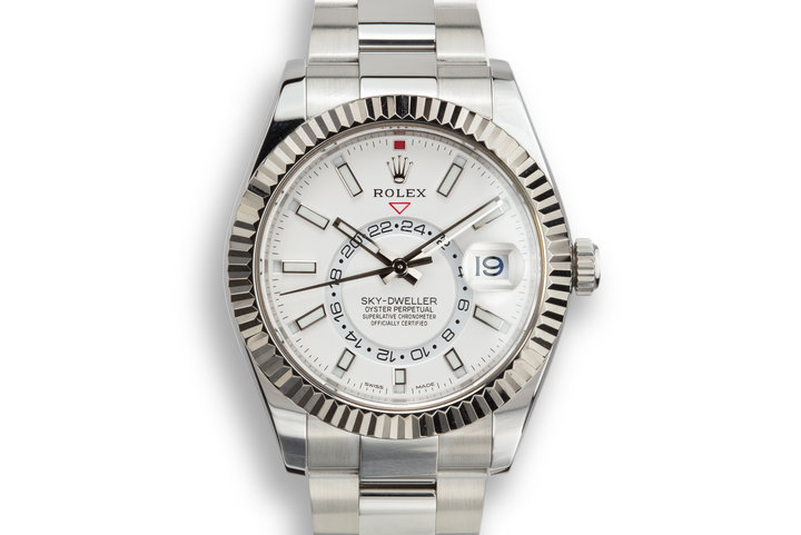 2018 Rolex Sky-Dweller 326934 Silver Dial with Box and Papers photo