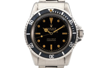 1961 Rolex Submariner 5512 with Black Gilt Chapter Ring Dial and Papers photo