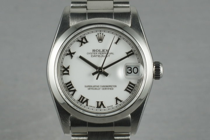 2002 Rolex Midsize Datejust 78240 Box and Papers photo