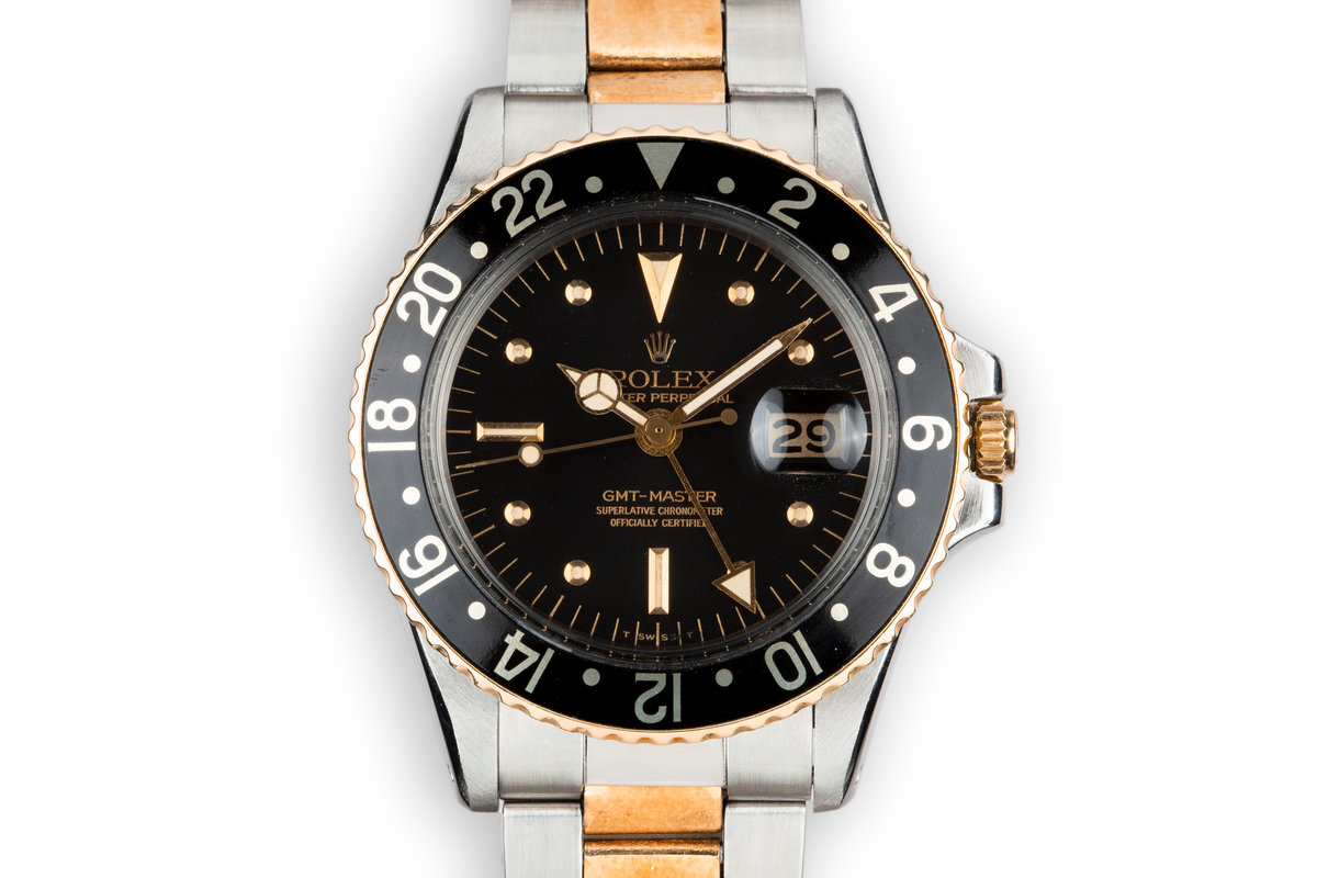 1973 Rolex Two-Tone GMT-Master 1675 with Black Nipple Dial photo, #0