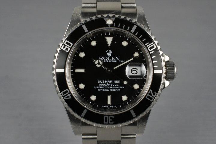 2001 Rolex Submariner 16610 photo
